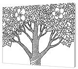 Pintcolor 7815.0Keilrahmen mit Leinwand Bedruckt zum Ausmalen, Holz-Tanne, weiß/schwarz, 40x 50x 3.5cm
