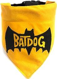 That Dog In Tuxedo Batdog Embroidered Dog Bandana/Dog Scarves with Adjustable Dog Collar (SIZE - M-L)