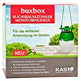 KAS buxbox Buchsbaumzünsler-Falle Monitoring Set inklusive 6 Pheromon-Lockstoff-Nachfüller
