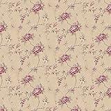 MyTinyWorld Paquet de 5 Maison de Poupées Rose Foncé Chenillable Motif Fleuri Papier Peint Feuilles
