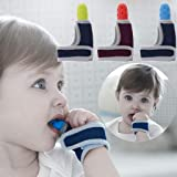 ShowkingL Baby Child Finger Protector Stop Thumb Sucking Wrist Band Baby Care Gloves Teething Ring Dummy Newborn Dental Care