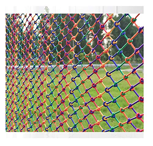 ZGQSW Kindersicherheitsnetz, Balkontreppen Fallschutznetz, Spielplatz Kindergarten Schutznetz, Außenzaun Zaunnetz, Fotowand Dekorationsnetz, Farb Nylonseilnetz 2x2m (Color : Mesh 5cm, Size : 1 * 4m)