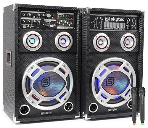 Skytec SPD-8V - Set de altavoces (50 - 2000 Hz, 243 x 310 x 510 mm, USB, Universal, Corriente alterna, 50/60 Hz)