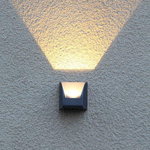 Moderne minimalistische kreative Outdoor wasserdichte Wand LED Outdoor Garten Beleuchtung Tür Lampe Balkon Terrasse Garten Lampe ( Farbe : A - Schatz Garten Terrasse