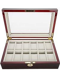 Caja expositora de Madera para 12 Relojes, Joyas, Joyas, Joyas, Joyas,