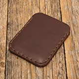 Marron Portefeuille en cuir pour Carte de crédit, argent comptant ou titulaire d'identification. Pochette unisexe style rustique.