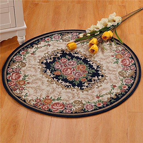 Alfombra redonda engrosada 1,2 cm / cojín / estera de la cesta de la suspensión / estera de la moda / alfombra de la cabecera de la cama del jardín ( color : Azul , Tamaño : Diameter 160cm )