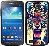 Tiger Roar Kreuz Hipster Zitat Design Schwarz für Samsung Galaxy S4Active Handy Tasche