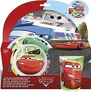 Cars Stor Melamine Rim Car Racer Edge Dinnerware Set Of 3 Multicoloured 22790