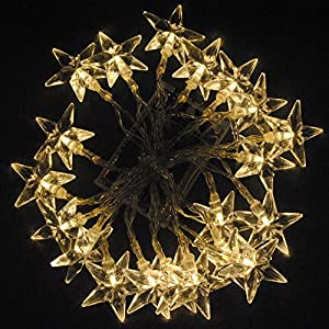 Battery Operated Bright Warm White 20 Star 2M LED Christmas Xmas Wedding Birthday Party Decoration Fairy String Lights Lamp for rooms