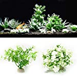ALCYONEUS Green Fake Aquarium Plant Water Grass Ornament Fish Tank Plastic Decoration - #10 8