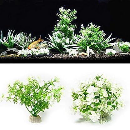 ALCYONEUS Green Fake Aquarium Plant Water Grass Ornament Fish Tank Plastic Decoration - #10 4