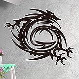 zxddzl Flying Dragon Art Wandaufkleber Für Wohnkultur Wohnzimmer Schlafzimmer Vinyl wasserdichte Wandkunst Aufkleber stickerDe Wandcm 69x55cm