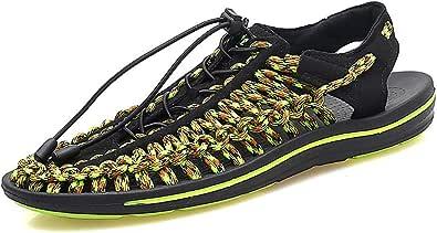 YU Sandali estivi Scarpe casual da uomo Scarpe da spiaggia fatte a mano da uomo Scarpe da trekking outdoor a punta chiusa