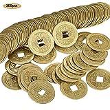 gaeruite 200 Stück 1 Zoll chinesische Glücksmünzen Feng Shui Münzen aus der Alten chinesischen Qing-Dynastie-Zeit