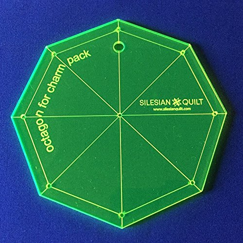 Silesian Quilt Template for Patchwork Octagon for Charm Pack (Quilts Packs Charm)