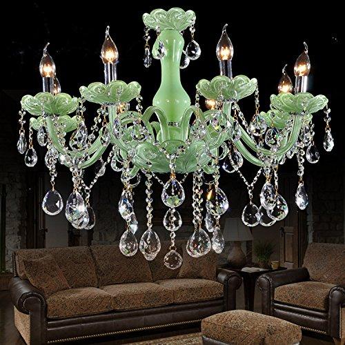 huamao @ Kronleuchter aus Kristallglas 3W grün Jade Modus Haus Moderne Wohnzimmer Esszimmer Schlafzimmer Hotel K9, classics 6 head, E27 3.0 wattsW