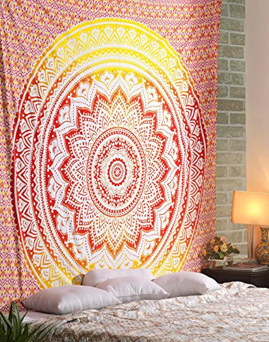 Pared Indian Mandala Wall Hanging hippie Tapestry