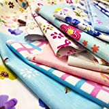 #1: flic-flac 200pcs 4 x 4 inches (10cmx10cm) Cotton Craft Fabric Bundle Squares Patchwork Lint DIY Sewing Scrapbooking Quilting Dot Pattern Artcraft