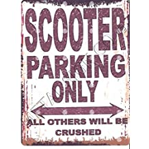 small SCOOTER classic bike METAL SIGN RETRO VINTAGE STYLE garage shed workshop bar pub wall art office games room