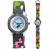 Venhoo Kids Watches 3D Cute Cartoon Waterproof Silicone Children Toddler Wrist Watch for 3-10 Year Girls Little Child