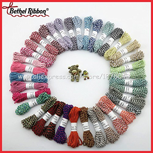 new-10m-12ply-2-pcs-free-shipping-colorful-high-quality-twine-cotton-baker-rope-baker-twine-twisted-