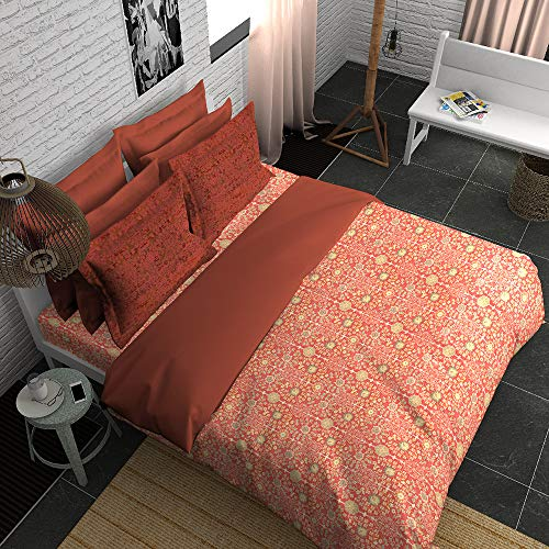 Boutique Living India-Coral 300TC King Size Cotton Printed with 2 Pillow Covers Bedsheet Set-(274cm x 274cm) Persian Tales - Buy Online Bedsheet