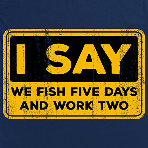 Fishing Work Week T-Shirt, Herren Dunkelblau