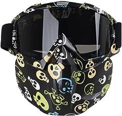 Motorrad Brillen Maske, AOLVO winddicht Gesicht Maske Brillen Mehrzweck für Airsoft/CS/Paintball/Ski/Reiten/Schneemobil/Radfahren für Kinder und Erwachsene