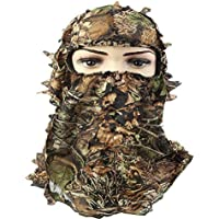 Exclusky Capucha de camuflaje 3D Casco táctico Hombre Mujer Ocultar cara para caza CS Juego de pesca