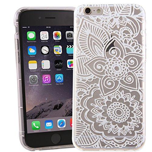 iPhone 6/6S Case motivo Case Blumen (weiß)