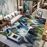 Tapijt hoofddecoratie tapijt Blauwe groene zwarte grijze inktengraffitiontwerp modern tapijt vuilafstotend voelt zacht aan op de bank tapijt 180*250cm