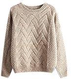 Mohair Sweater Grobstrick Pullover Zopfpullover Damen Sweatjacke Sweaters Winterpullover Schicke Mantel Frauen Pullover Herbst Winter Kaki