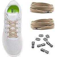 MAXX laces elastische Schnürsenkel flach für alle Schuhe - Schnellverschluss Schnürbänder ohne binden für Damen, Herren…