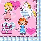 20 Servietten Im Leben einer Prinzessin/Kinder/Geburtstag/Mädchen/pink 33x33cm