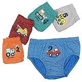 Espoy 5er Pack Kinder Jungen Boxershorts Junge Boxer Unterhose Unterwäsche Mikrofaser Slips Schlüpfer LKW-Muster 1-11 Jahre 56-134