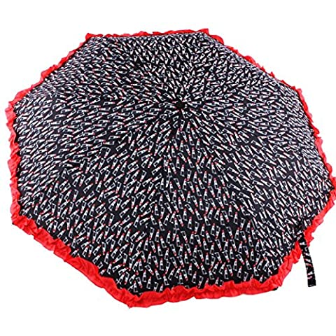 BUKUANG Double Canopy Auto Open Close Waterproof Abric Compact Travel Automatic Folding Umbrellas,A
