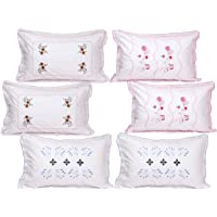 """HSR Collection Cotton Pillow Cover - 18""""x28"""", Set of 6, White"""