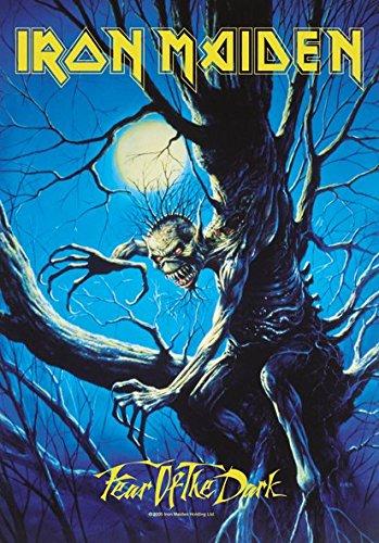 Heart Rock Licensed Bandiera Iron Maiden - Fear Of The Dark Live, Tessuto, Multicolore, 110X75X0,1 cm