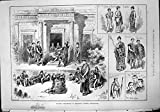 Original old antique victorian print Antiker Druck Amateurtheater- Kynaston-Colleges Cheltenham Pylades 1888