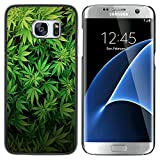 Graphic4You Marihuana Cannabis Hanf Blatt Raucher Design Harte Dünn Hülle Tasche Schale Schutzhülle für Samsung Galaxy S7 Edge