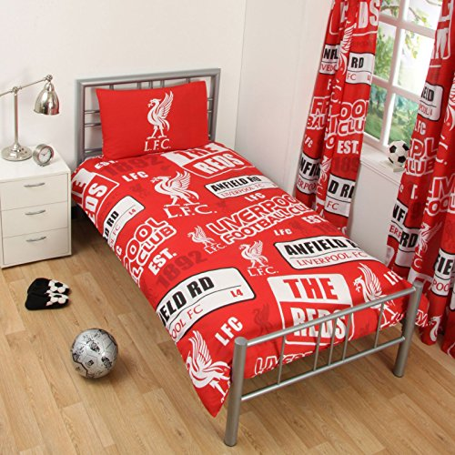 Liverpool FC Patch Single Duvet Cover and Pillowcase Set by Liverpool F.C. (Liverpool Kissenbezug)