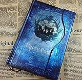 HARRY POTTER Retro Tagebuch Journal Buch Agenda Notizbuch Planer (blau)