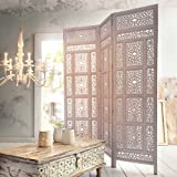 """Biombo """"Marokko"""" de madera, blanco"""