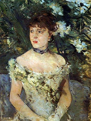 ��Junge Frau in einem Kostüm Ball von Morisot, gespannte Leinwand Galerie verpackt. 50,8x 71,1cm (Museum Für Kostüm Ideen)