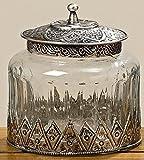 Vorratsdose mit schöner Metallmontierung 13 cm