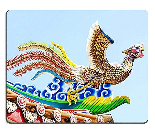 Liili mouse pad Natural rubber Mousepad Image ID: 29456389cinese Phoenix statua sul tetto con cielo blu