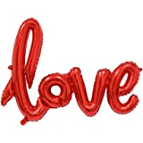 """Rozi Decoration """"Love"""" Foil Balloon (Red)"""