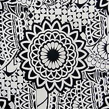 """100% de algodón blanco de 42 """"de ancho de tela floral artesanal impresa coser de algodón por el patio"""