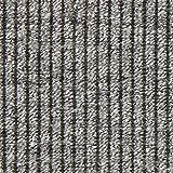 Fabulous Fabrics Strickstoff Rippe – grau — Meterware ab 0,5m — zum Nähen von Strickkleidern, Strickjacken und Pullovern